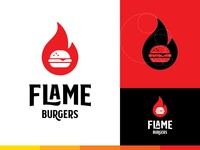 Flame Burger Logo