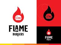 Flame Burger Logo