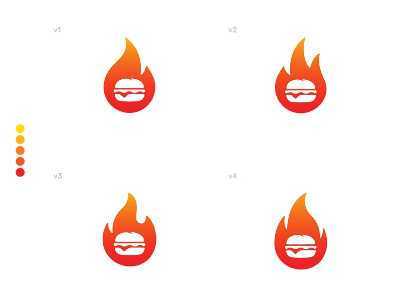 Flame Burgers Logo brand identity visual identity logo design juicy burger flames flame fire modern logo abstract