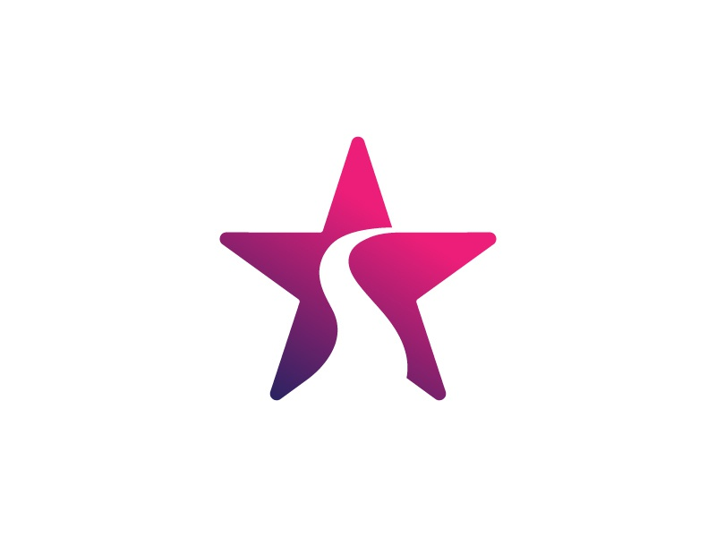 Success Star modern brand identity logo design logo abstract successful consulting star way road path journey success