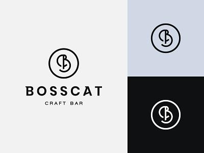 BossCat Logo brand identity visual identity logo design island urban chill lounge bar craft craft bar letter modern logo letterform monogram letter b bc bosscat cat boss