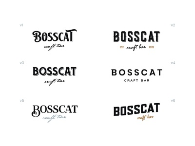 BossCat wordmark exploration