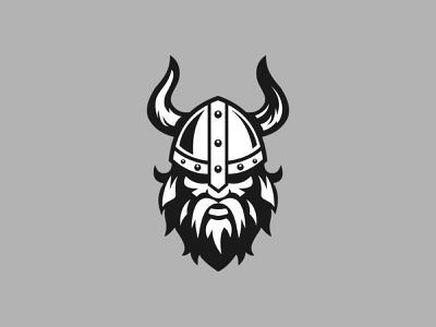 Viking Logo modern abstract logo design logo horns helmet strong sharp beards beard norde nordic vikings viking