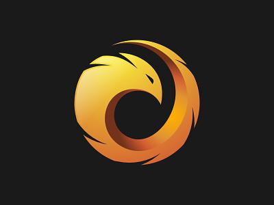 Phoenix Logo fire logo design logo phoenix logo gradient yellow abstract bird phoenix