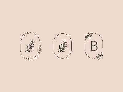 Blossom Brand Elements letter blossom flower beauty wellness spa blossoms flowers abstract modern logo logo design wellness logo spa logo