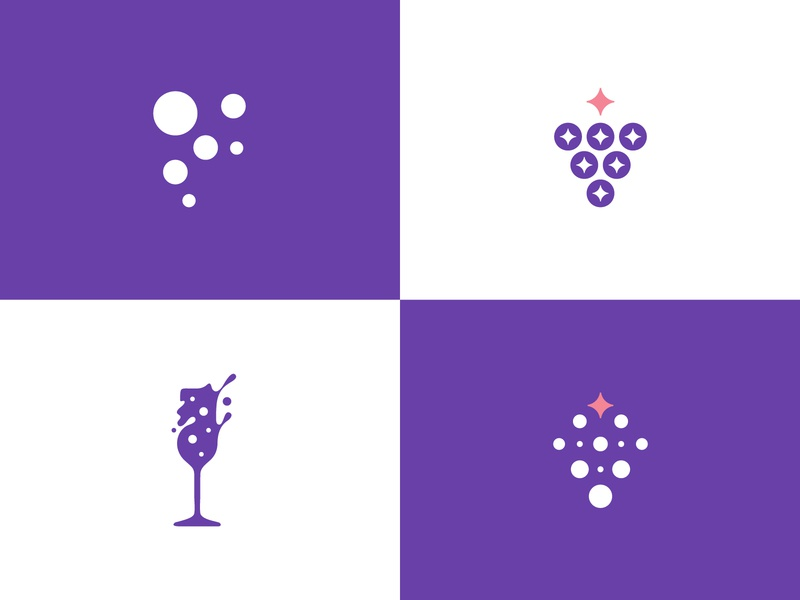 Fizz Society Logo Concepts fizz funky bubbles grapes wine glass sparkling champagne prosecco wine logo wine identity bubbles logo dots logo brand identity modern abstract letter logo feminine logo fizzy