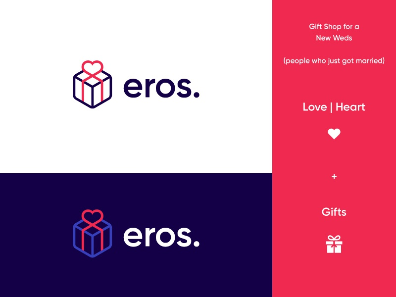 Love Box Logo Eros by Insigniada - Branding Agency on Dribbble