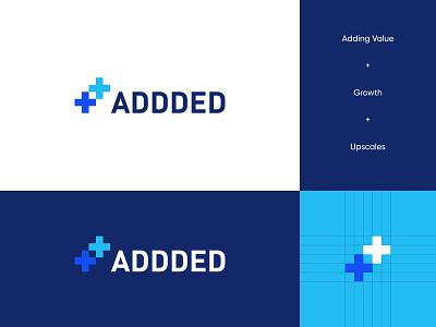Addded Logo Design modern logo design logo abstract growth value plus added