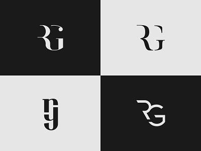 RG Monogram minimalist brand identity logo design logo abstract rg logo rg monogram modern letter letters shield monogram logo letterform luxury