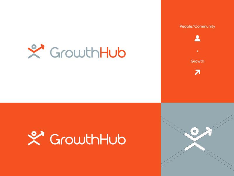 Growth Hub Logo modern abstract growth hub grow letter g arrow marketing finance logo success upward logo design brand identity letter logo