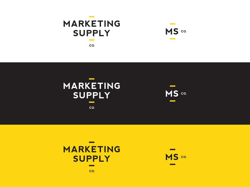 Marketing Supply Company logo marketing supply company logo logo design brand identity marketing logo yellow ecommerce data agency