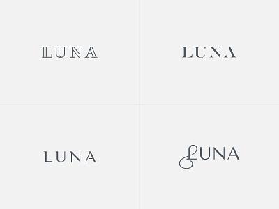 Luna Wordmark visual identity brand identity elegant logo logo design logo letter logo wordmark logo elegance products bags handbags bag handbag woman women luxury stylish elegant wordmark luna