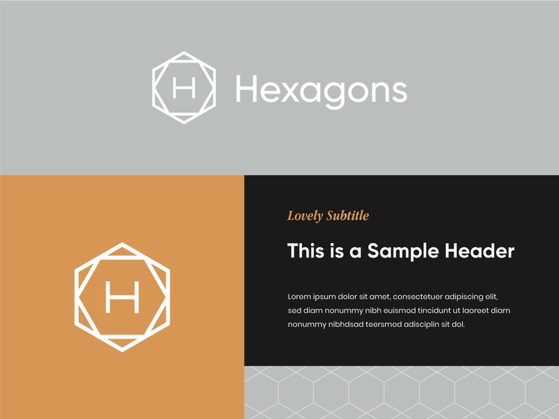 Hexagons Logo 1 hexagon logo modern logo modern architecture logo interior design logo architecture interior design visual identity brand identity logo design logo hexagonal hexagons hexagon