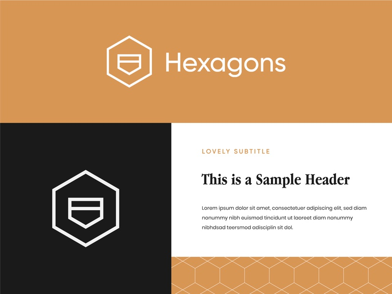 Hexagons Logo 2 hexagon logo modern logo modern architecture logo interior design logo architecture interior design visual identity brand identity logo design logo hexagonal hexagons hexagon