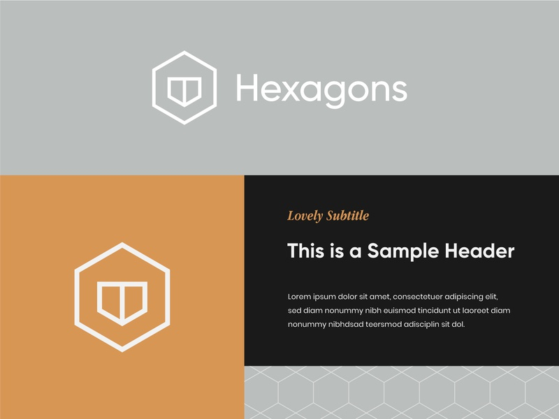 Hexagons Logo 3 hexagon logo modern logo modern architecture logo interior design logo architecture interior design visual identity brand identity logo design logo hexagonal hexagons hexagon