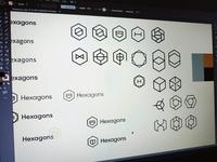 Hexagon Logo Ideas Sketches