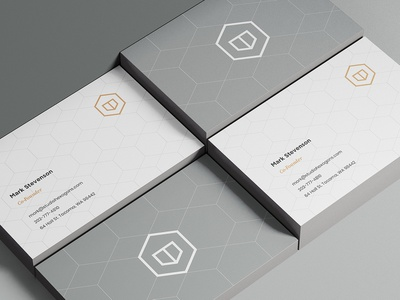 Hexagons Business Cards + Stationary abstract stationary business card hexagon hexagons hexagonal logo logo design brand identity visual identity interior design architecture interior design logo architecture logo modern modern logo hexagon logo