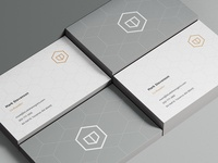 Hexagons Business Cards + Stationary