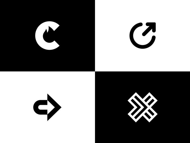 CrossFeet Logo Concepts modern logos negative space socks playful edgy letter x letter c letterform logo design brand identity letters letter modern logo abstract