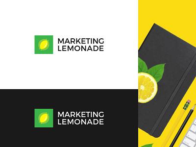 Marketing  Lemonade lemon logo yellow marketing lemonade lemon abstract branding brand identity visual identity logo design logo modern