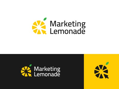 Marketing Lemonade abstract lemonade marketing yellow branding brand identity visual identity logo design logo modern