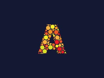 Dotted Monogram Letter A