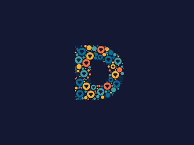 Dotted Monogram Letter D