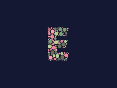 Dotted Monogram Letter E