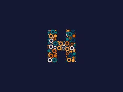 Dotted Monogram Letter H