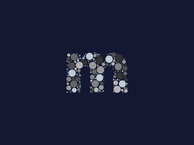 Dotted Monogram Letter M
