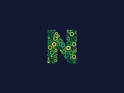 Dotted Monogram Letter N