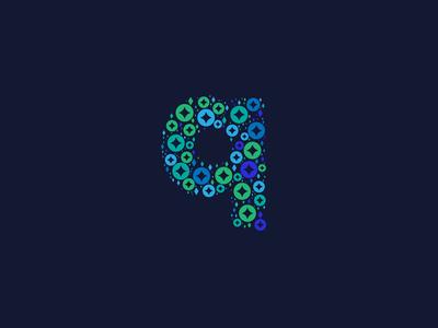 Dotted Monogram Letter Q