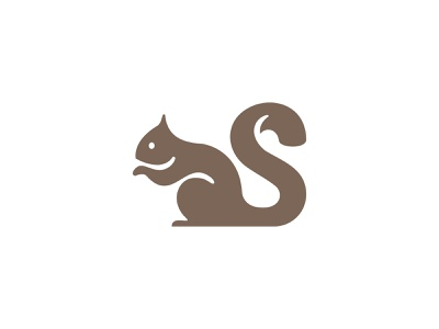 Squirrel Logo abstract cute pet animal squirrellogo logodesign logo squirrel