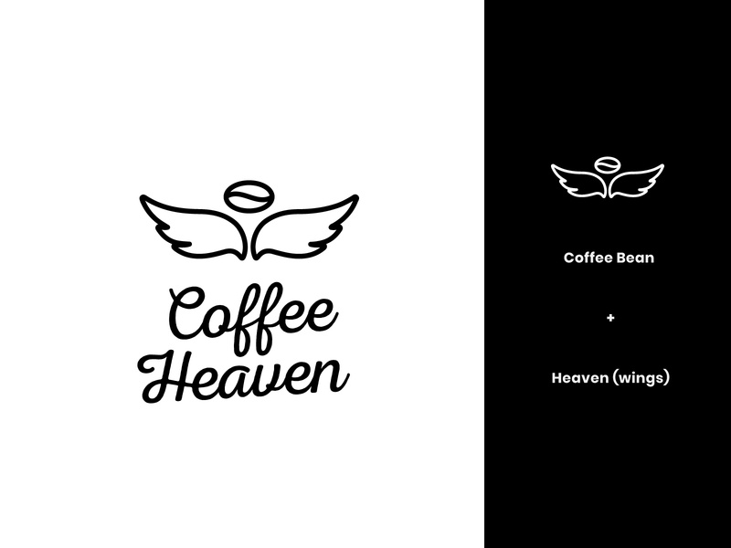 Coffee Heaven Logo 1 brand identity coffee brand identity coffee brand heaven modern abstract logo design logo coffee logo coffee bean coffee