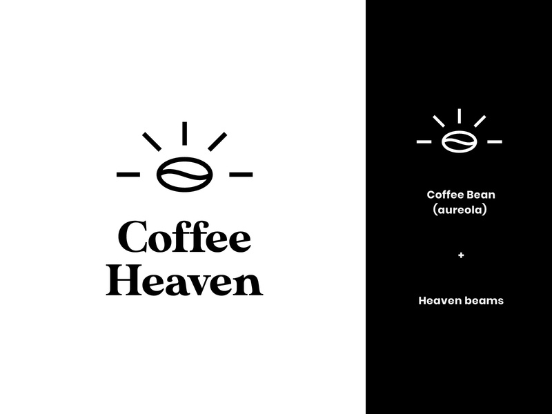 Coffee Heaven Logo 2 brand identity coffee brand identity coffee brand heaven modern abstract logo design logo coffee logo coffee bean coffee