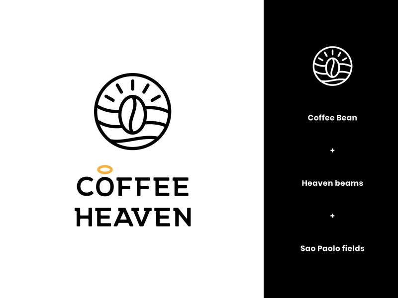 Coffee Heaven Logo 3 brand identity coffee brand identity coffee brand heaven modern abstract logo design logo coffee logo coffee bean coffee