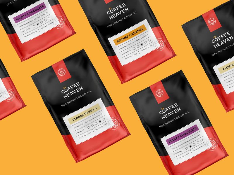 Coffee Heaven Labels