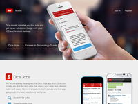 Dice Mobile Marketing page
