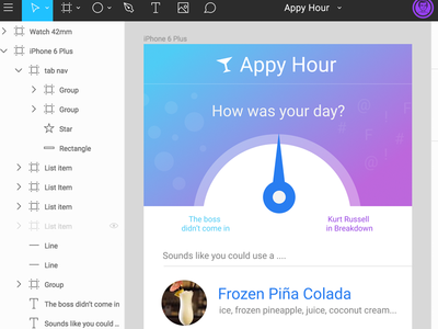 Figma Trial - Demo App 'Appy hour'