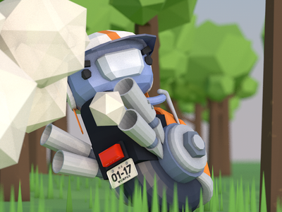 Wumpus Nitro low poly forest kirby bike moped c4d 3d nitro wumpus
