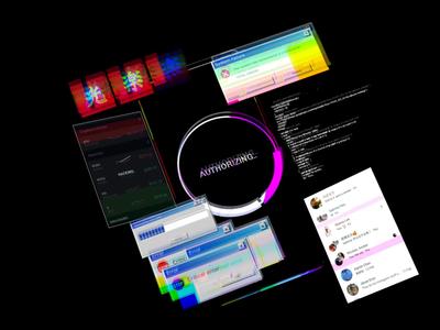 Glitch AR icons technology download virus ui mockup error motion ar cyberpunk glitchart glitch