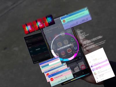 Glitch AR pt2 animation app icons glitch art glitch motion mockup virus tech ux ui cybrerpunk ar