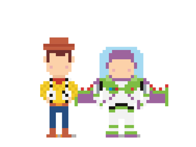 Toy Story Dribbles #2 toy story buzz lightyear woody alien disney pixar toys pixel art green claw characters