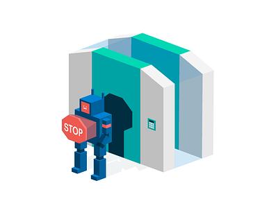 No Access access maintenance enterprise robot lock keys stop tech gatekeeping security