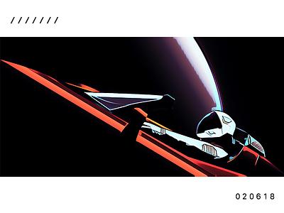 Astro Roadster akira spacesuit future futuristic galaxy astronaut space car roadster tesla