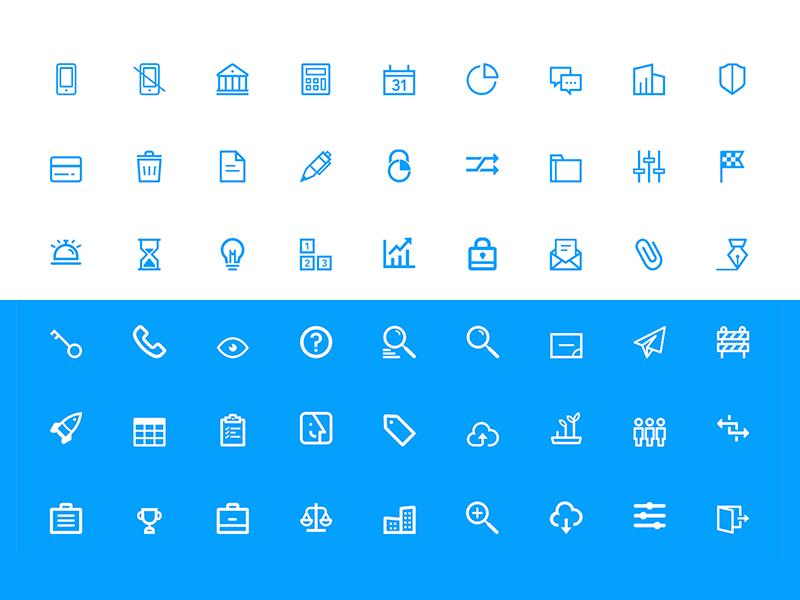 Financial Icons Set finance website design set type font web ui icons icon flat app