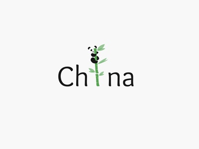 China chinese bamboo panda icon china logo