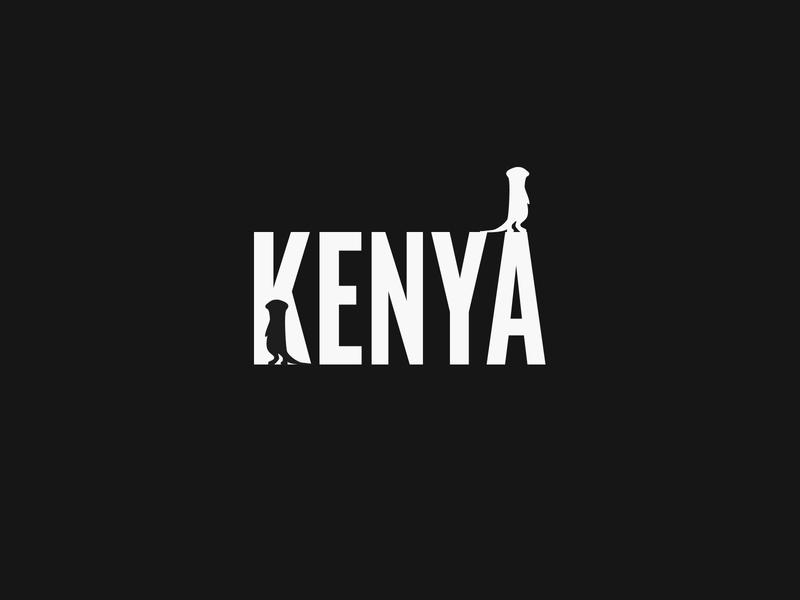 Kenya letter k typogaphy meerkat kenya logo branding
