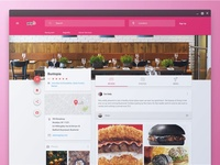 Yelp restaurant landing page concept