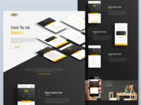 Tool app landing page
